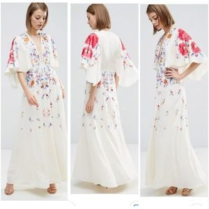 Embroidery maxi dress